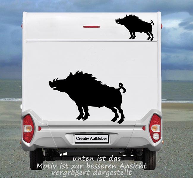 Wildschwein Keiler Wildsau Aufkleber Fur Das Wohnmobil Und Wohnwagen