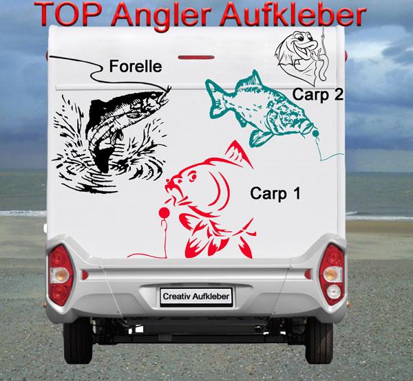 Top Angler Carp Karpfen Aufkleber Fur Das Wohnmobil Wohnwagen Bus