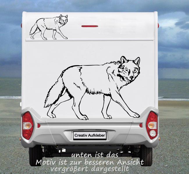 Wolf Aufkleber Super für das Wohnmobil Heck oder  die Seite (Wolf_131)