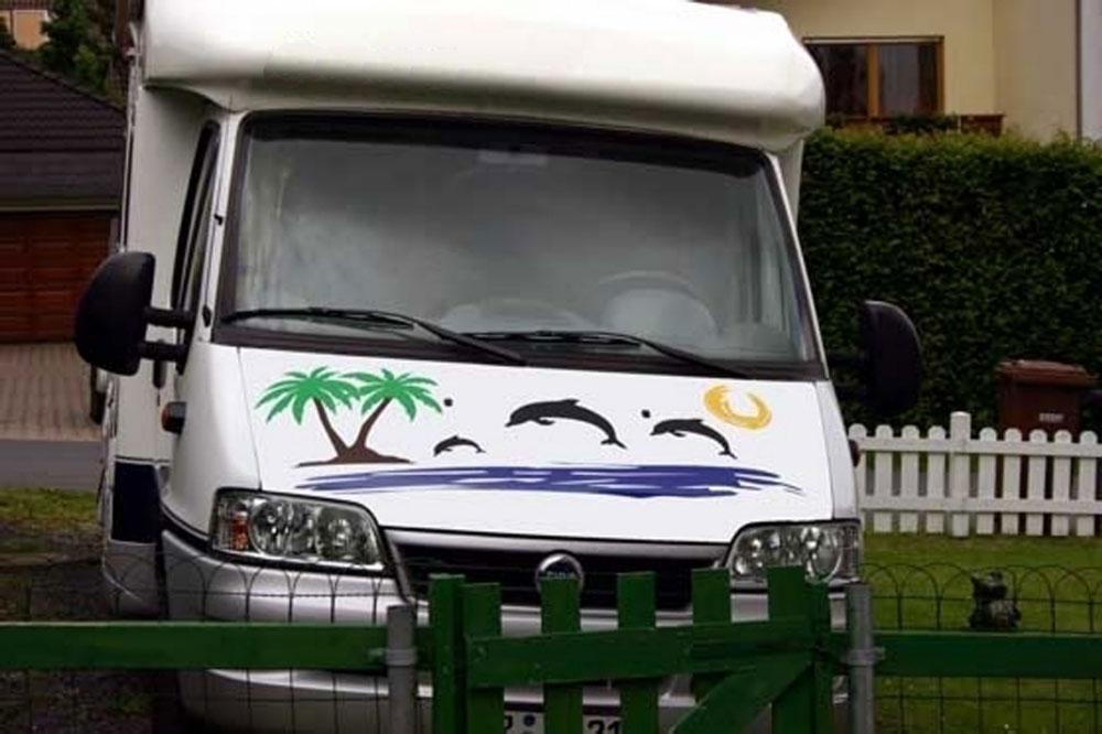 Karibik klein Aufkleber Set super für Wohnmobil und Wohnwagen  anschauen lohnt